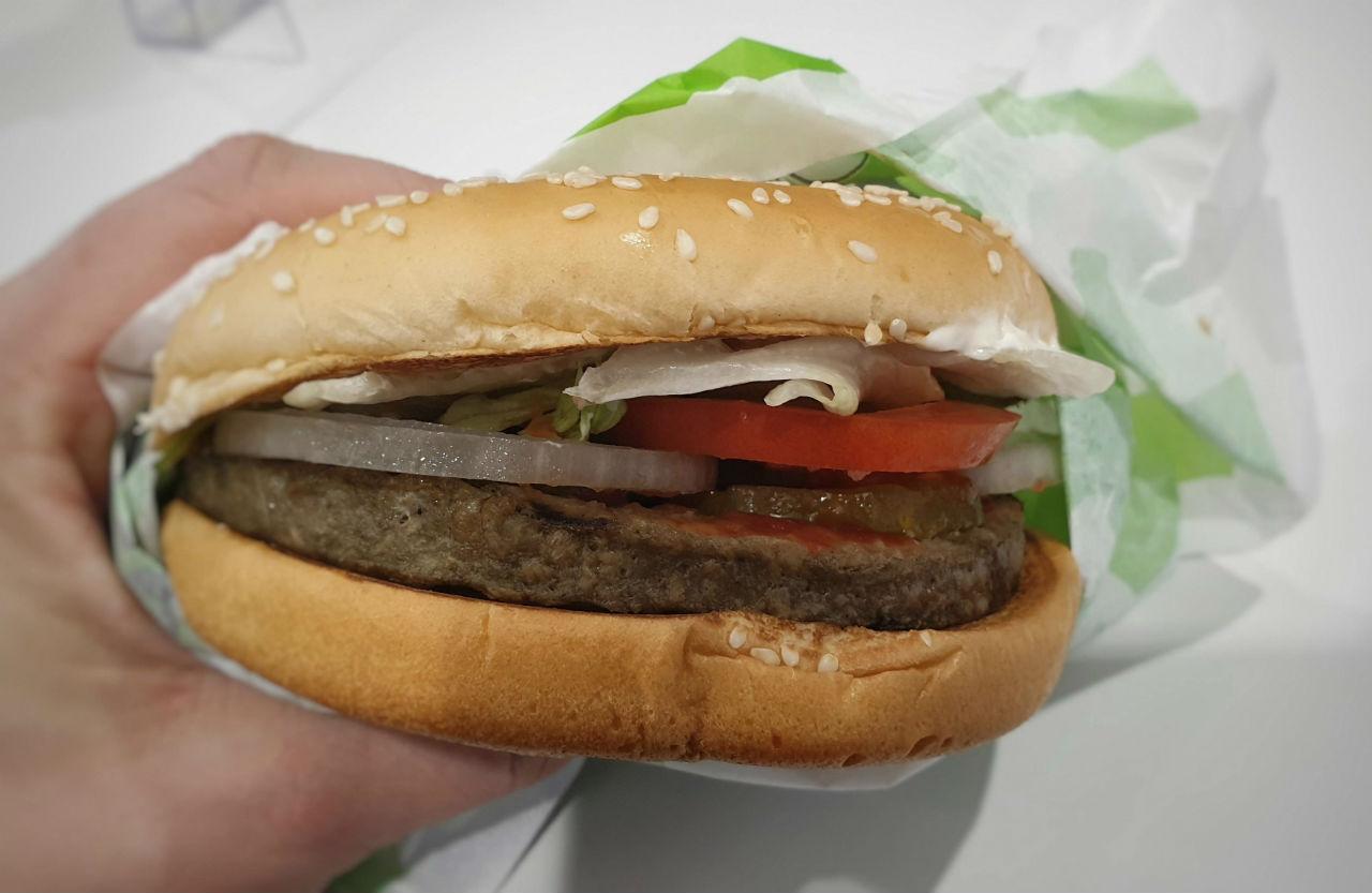 pyszny Wegetariaski burger w Burger King